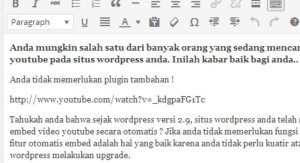 Memasukkan Video Pada WordPress