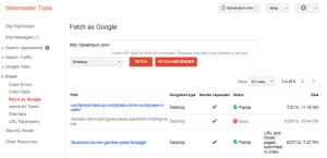 Fetch As Google, Google Webmaster Tools