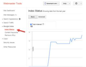 Index Status - Google Webmaster Tools