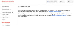 Security Issue, Google Webmaster Tools