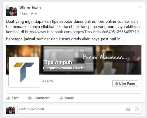 Tipsampuh status facebook
