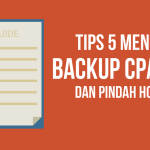 Tutorial Backup Cpanel dengan FTP